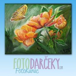 """Maľovaný obraz """"Žlté kvety"""""""
