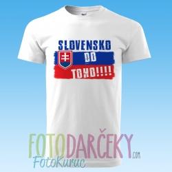 """Pánske tričko """"Slovensko do toho!!!"""""""
