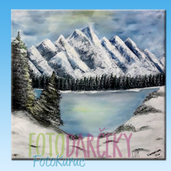 """Maľovaný obraz """"Zimná krajina"""""""