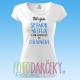"""Dámske tričko """"Milujem spánok, netflix a dlhé prechádzky do chladničky"""""""
