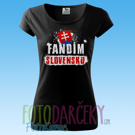 """Tričko dámske """"Fandím Slovensku"""""""