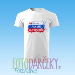 """Detské tričko """"""""Zo srdca fandím Slovensku"""""""
