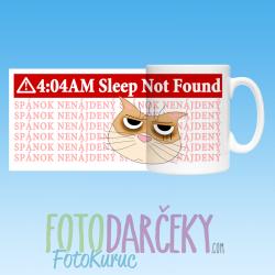"""Hrnček """"4:04 AM - spánok nenájdený"""""""