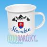 """Plechový hrnček """"Slovakia"""""""