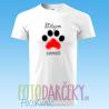 """Biele pánske tričko """"Milujem zvieratá"""""""