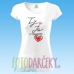 """Dámske tričko """"Ty a ja ♥"""""""
