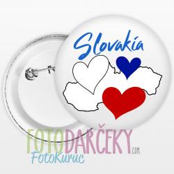 """Odznak 58mm """"Slovakia"""""""