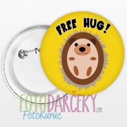 """Odznak 58mm """"Free Hug!"""""""