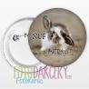 """Odznak 58mm """"ŇUF zajačik"""""""