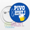 "Odznak 58mm ""Pivo & hokej"""