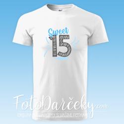 "Pánske/uni tričko ""Sweet 15"""