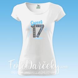 "Dámske tričko ""Sweet 17"""