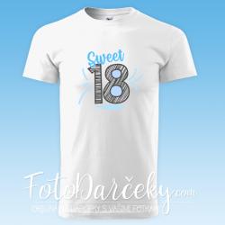 "Pánske/uni tričko ""Sweet 18"""