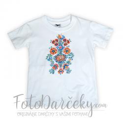 Detské tričko s ručne maľovaným motívom