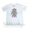 Detské tričko s ručne maľovaným motívom 122