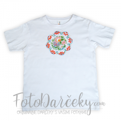 Tričko uni s ručne maľovaným motívom
