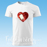 Pánske tričko Basic s flitrovanou potlačou - srdce