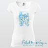 """Dámske tričko """"Žena s motýľmi"""""""