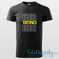 "Pánske tričko ""Tatino Hrdina"""