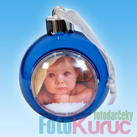 Vianočná guľa na stromček modrá - FOTODARČEKY FOTO-KURUC - Potlač na ... 6fcc5320684