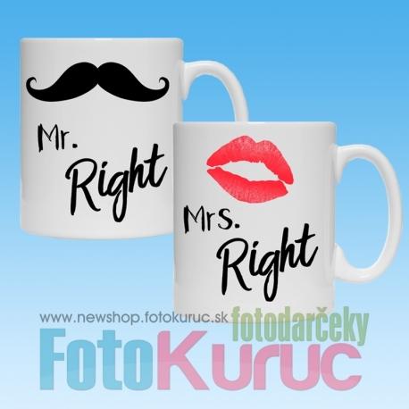 """Sada hrnčekov """"Mr. a Mrs. Right"""""""