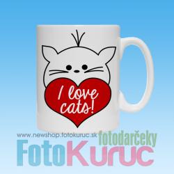 """Hrnček """"I love dogs"""""""