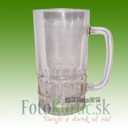 Pivný krígeľ číre sklo